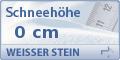 Schneehöhe Weisser Stein
